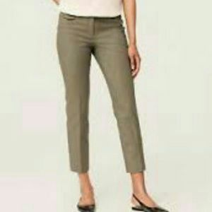 LOFT Black/Tan Patterned Marisa Cropped Pants